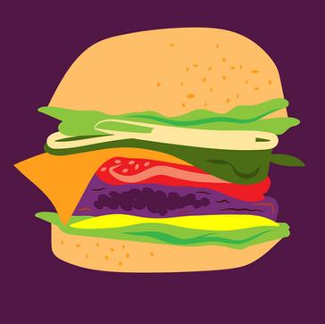 Burger Month Illustration
