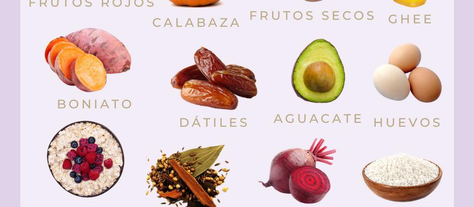 Alimentos para equilibrar Vata