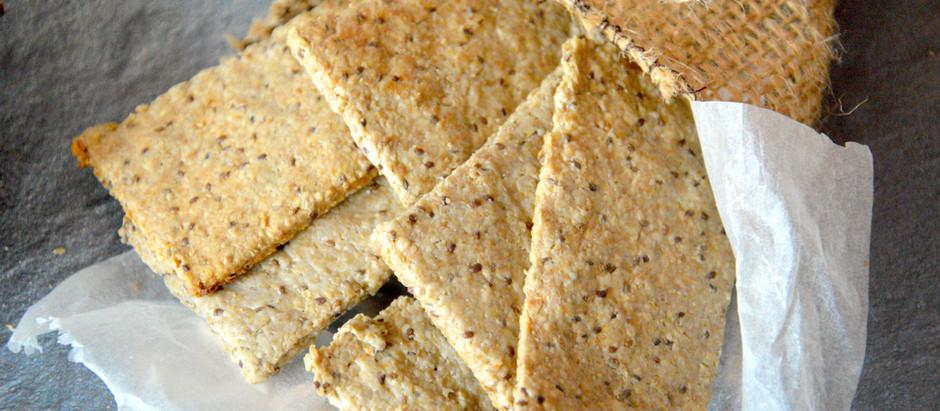 Crackers de semillas de girasol