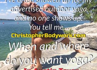Outdoor Yoga Offerings