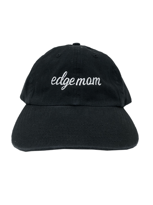 "Black Edge Mom ""Dad"" Hat"