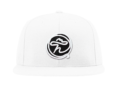 WHITE AND BLACK ROPE FLATBILL