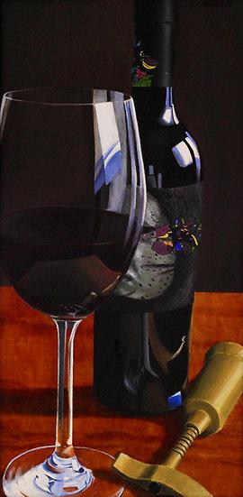 """Wine Bottle - 14"""" x 28"""""""
