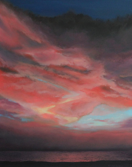 "Sunset Over The Gulf - 30"" x 24"""