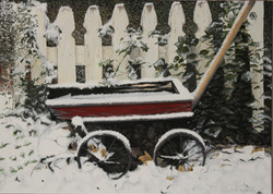 The Old Red Wagon