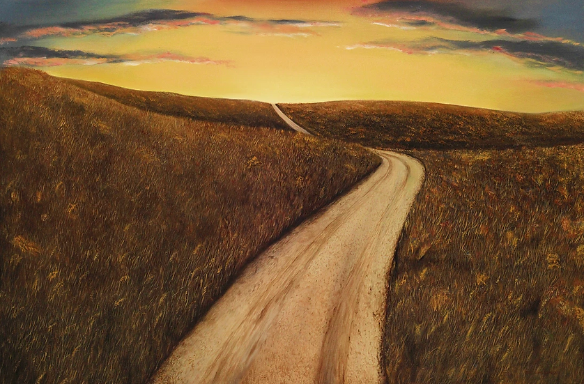 "Sunset Road - 28"" x 42"""