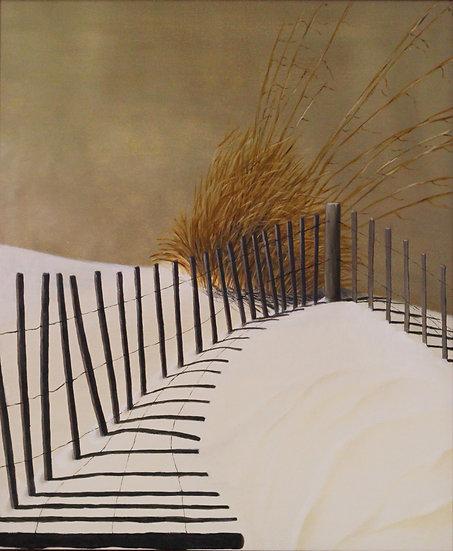 """Beach Fence - 20""""x24"""""""