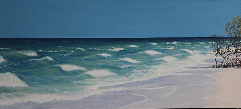 "Honeymoon Island - 44"" x 20"""