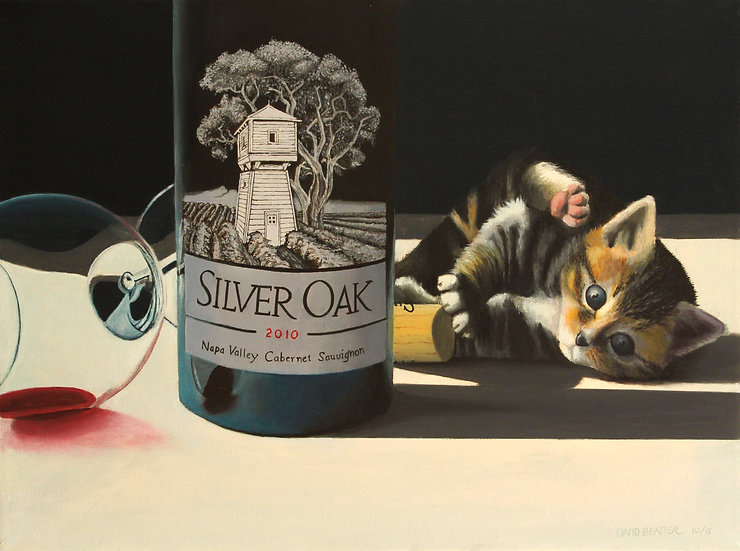 """Knocked the Wine Over - 18""""x24"""""""
