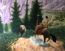 """The Unexpected Hunt - 56x48"""""""