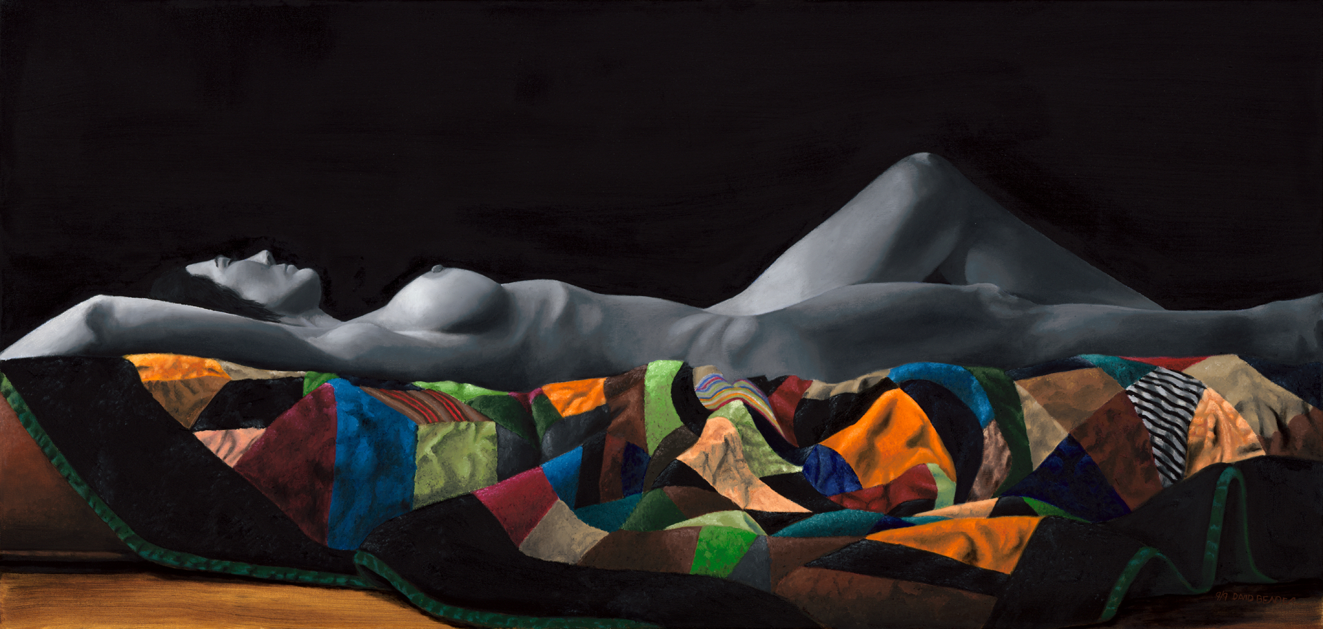 """Nude on a quilt 2 - 36""""x42"""""""