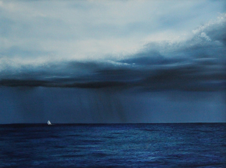 """Sailing Before The Storm - 24"""" x 18"""""""