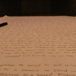She's writing again, again