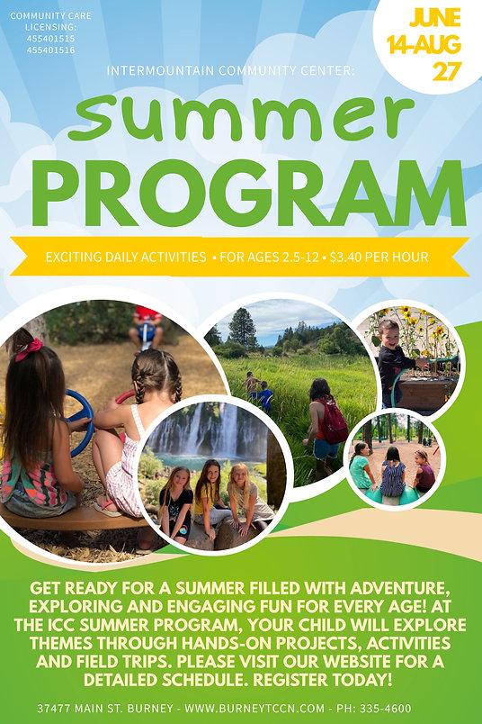 Flyer of the Summer 2021 program