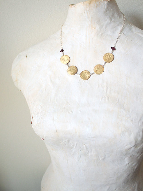 Brass Coin Traveler Necklace