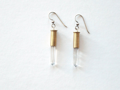 Simple Impacted Crystal Earrings