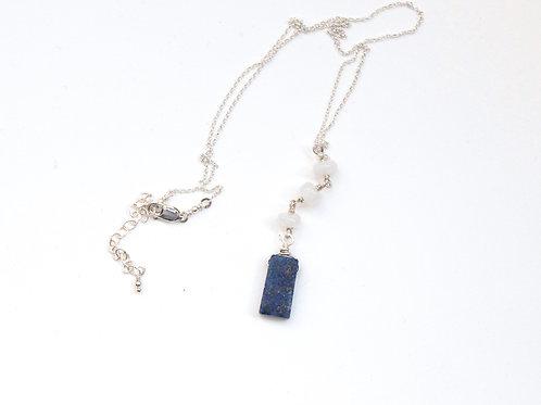 Lapis Lazuli & Moonstone Y Necklace