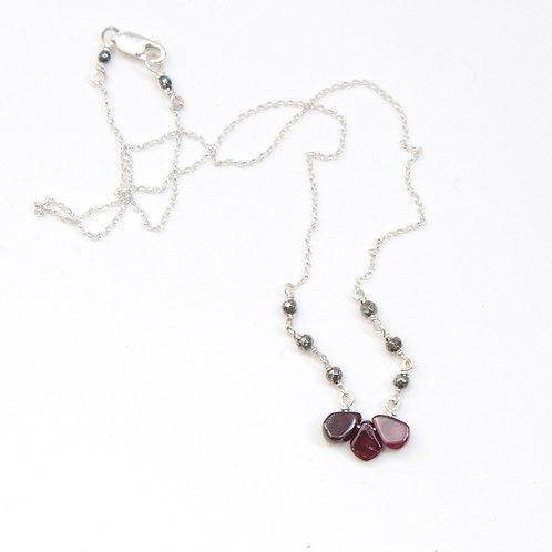 Garnet Petals Pendant