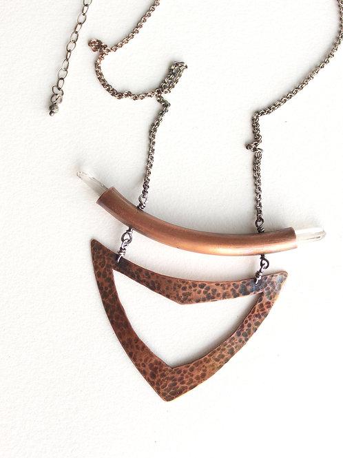 Femme Warrior Necklace in Copper
