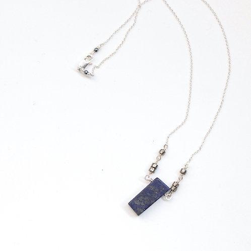 Lapis Lazuli & Pyrite Pendant