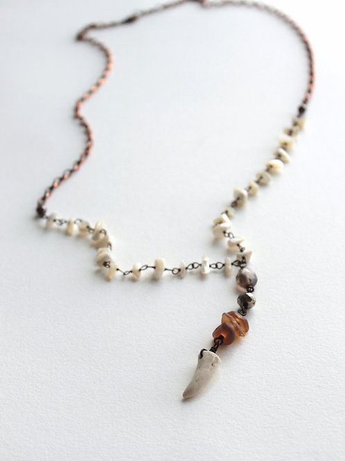 Antler & Sea Glass Power Necklace