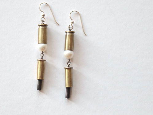 Pearl Bottomed Casing Earrings