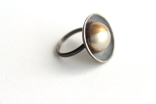Waxing Silver & Brass Ring