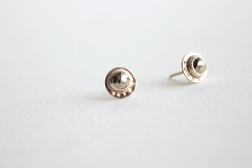 Sweet Pyrite Dotted Studs