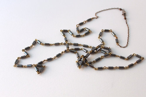 Hematite on Brass Layering Necklace