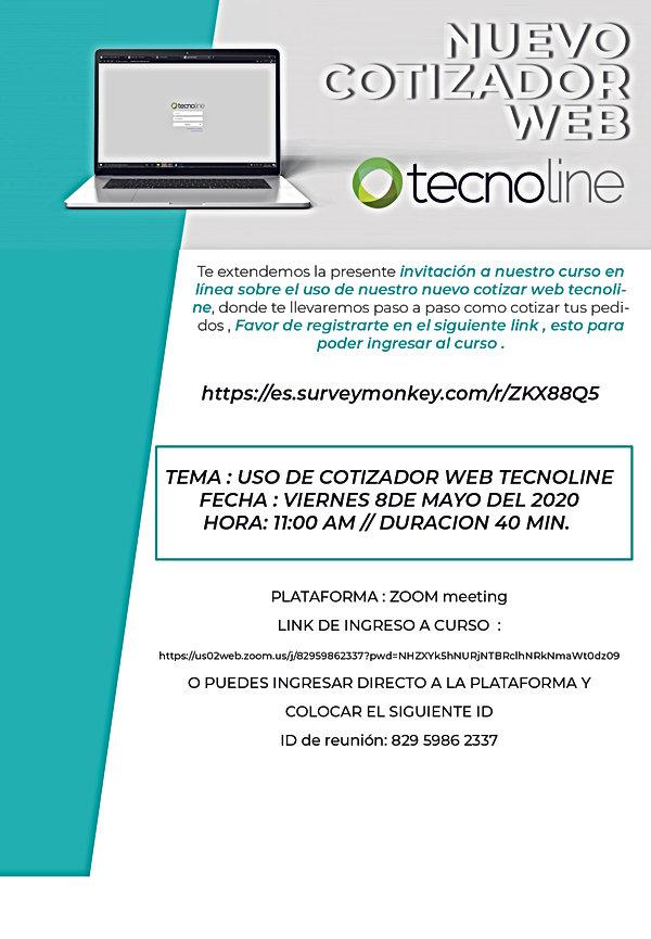 INVITACION CURSO COTIZADOR WEB TECNOLINE