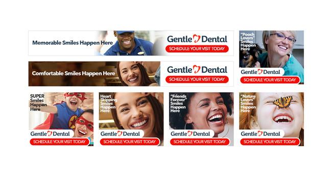 GENTLE DENTAL BANNER ADS