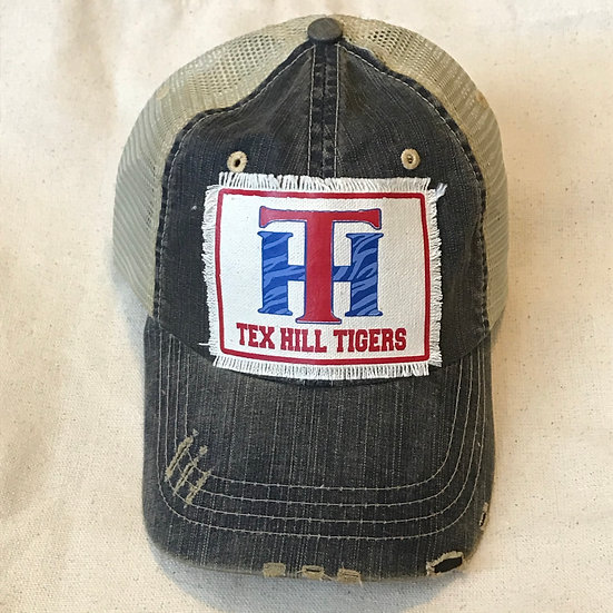 Tex Hill Vintage Trucker Hat - Canvas Patch
