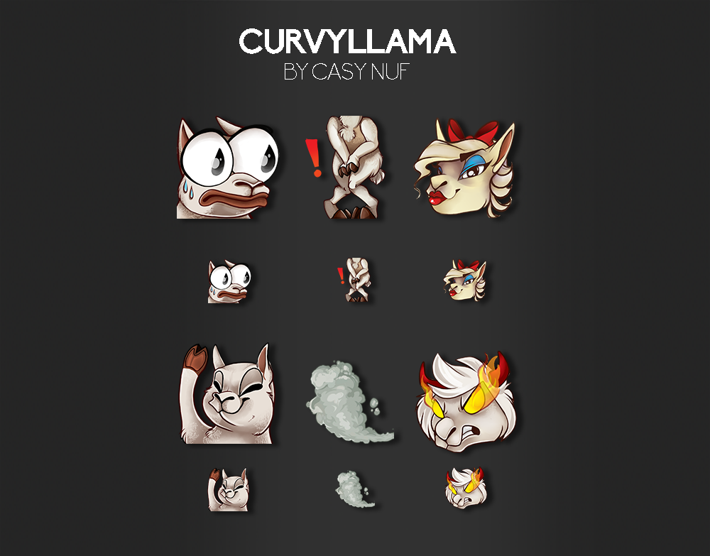 TWITCH EMOTICONS | Art of CasyNuf - Twitch artist ad