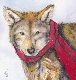 Red Wolf and Scarf
