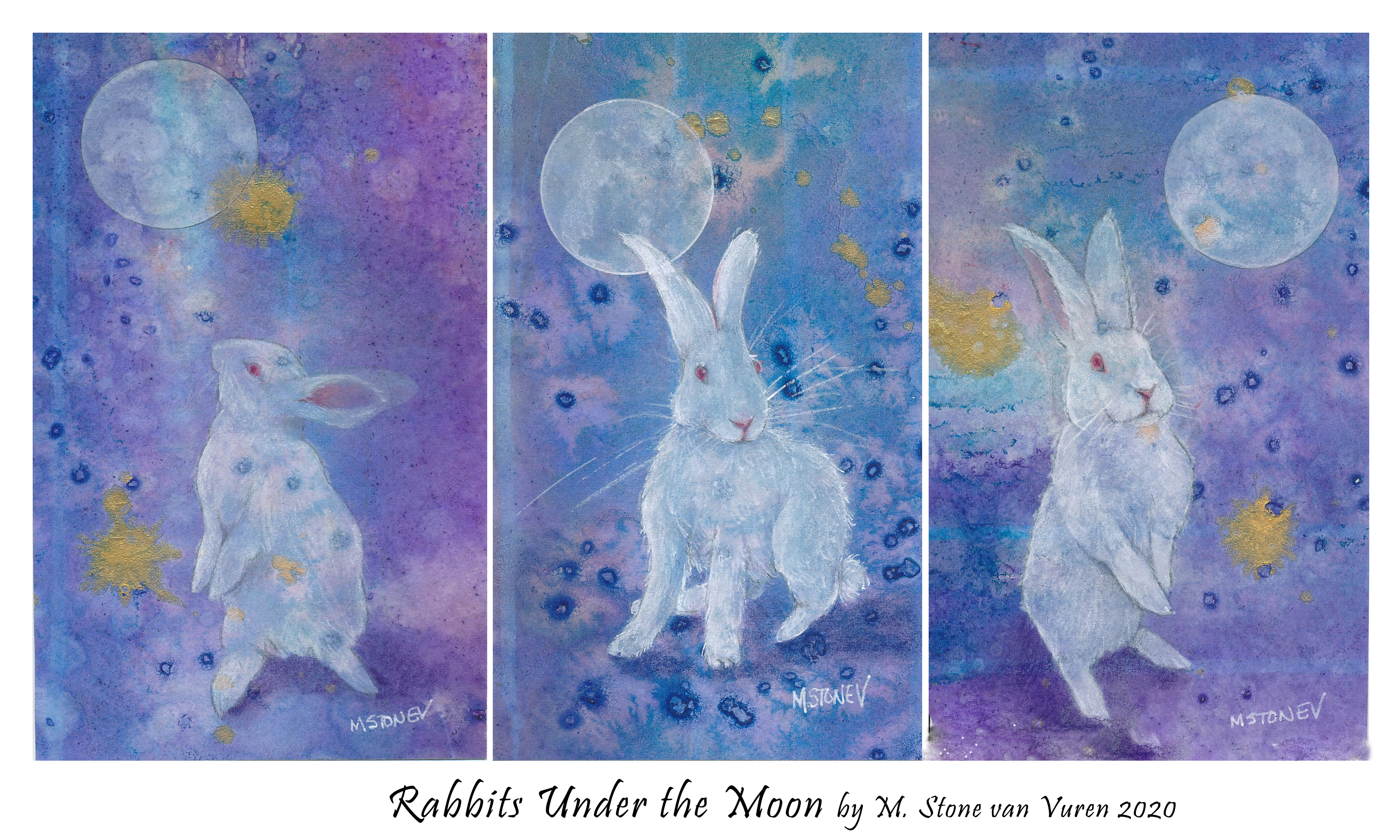 Rabbits Under the Moon