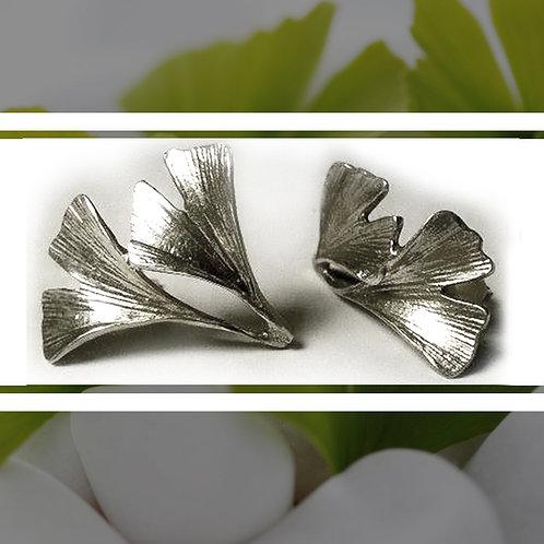 GINGKO BILOBA kettős leveles fülbevaló