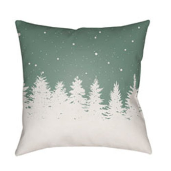 Green Trees 18-Inch Throw Pillow