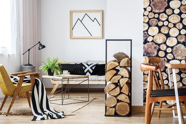 Cozy winter interior design for minimali