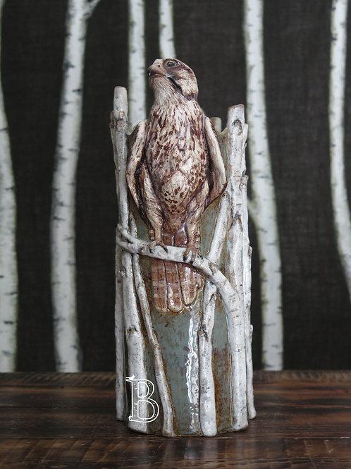 Arctic Grey Falcon 3D Vase