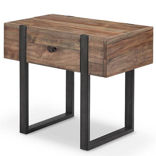 DK Modern Reclaimed Wood End Table