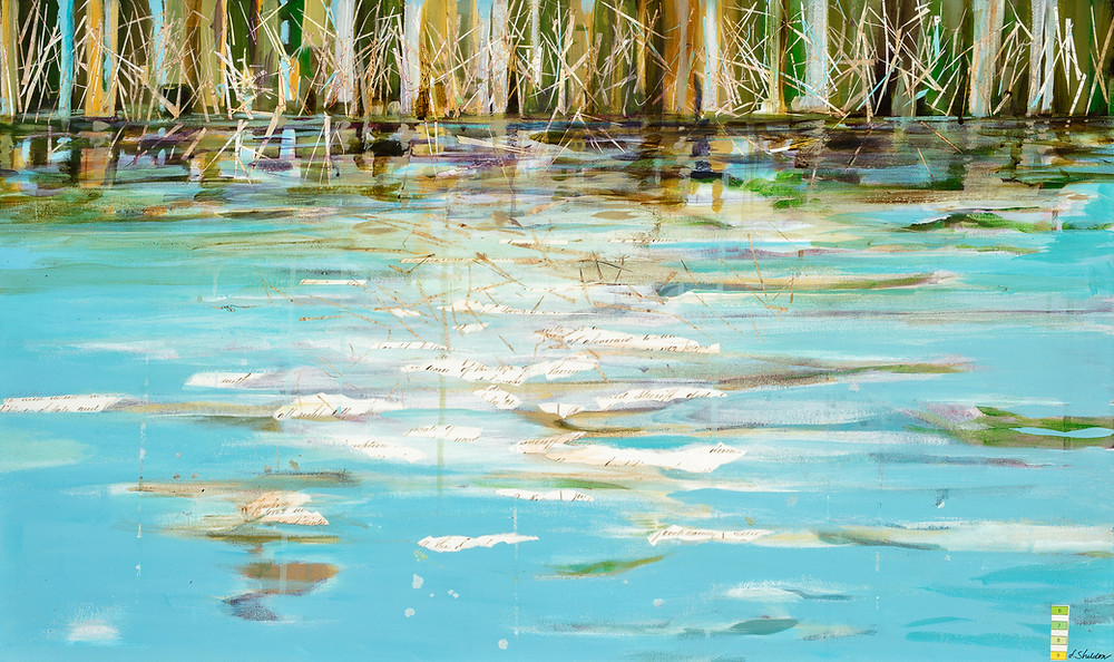 Down the river painted artwork by deb sheldon