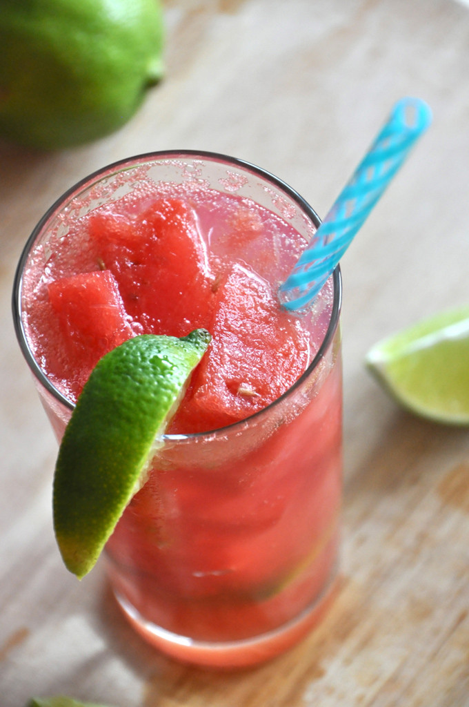Watermelon Limeade Cocktail