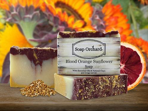 Blood Orange Sunflower Soap Bar