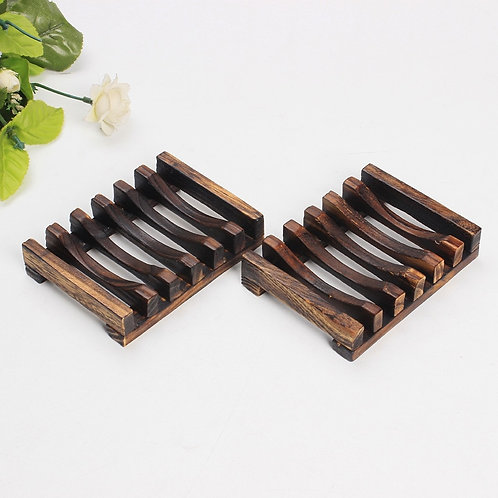 Wooden Natural Bamboo Soap Dish