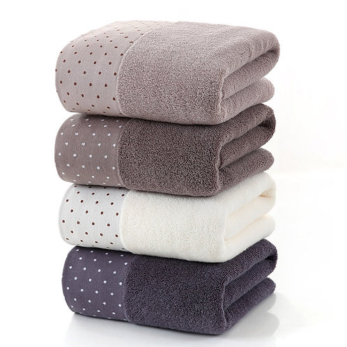 Dotted Cotton Bath Towel