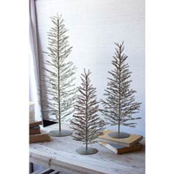 Brass Wire Trees, Set of 3