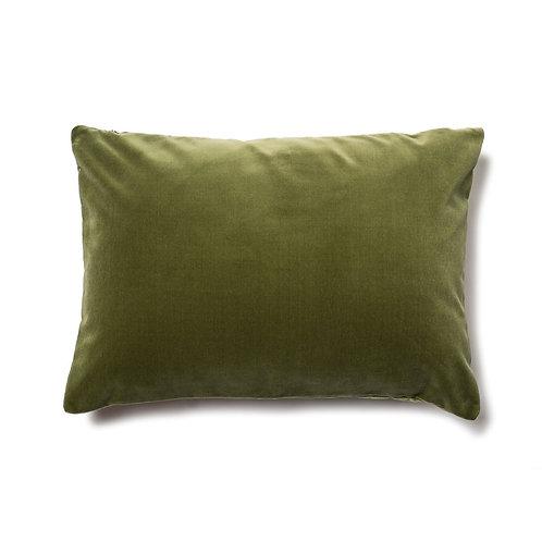 Velvet Cushion Cover-No Piping-Green-35cm X 50cm