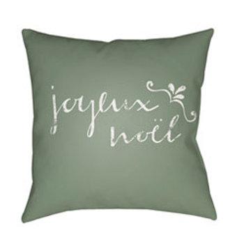 Green Joyeux 18-Inch Throw Pillow