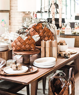 wooden table with modern home goods, unique home decoration store_edited.jpg