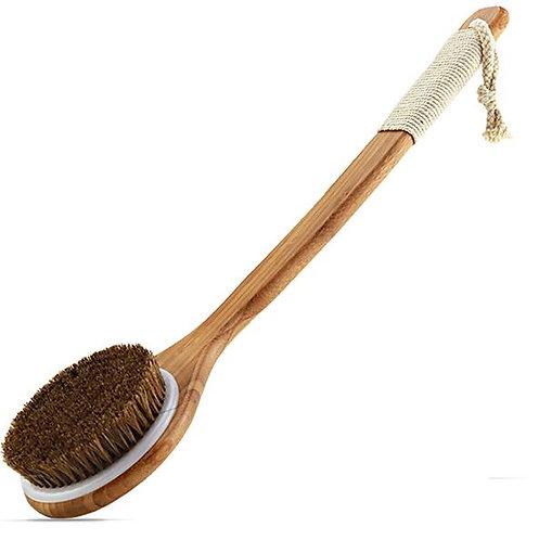 Exfoliating Natural Bristle Bath Brushes, Bamboo Handles